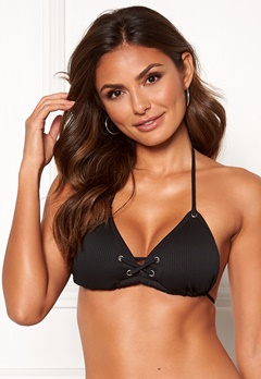Happy Holly Jade eyelets bikini bra Black Bubbleroom.fi