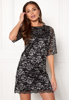Happy Holly Jade lace dress Black / Light grey Bubbleroom.fi