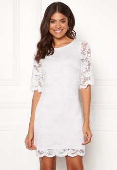 Happy Holly Jade lace dress White Bubbleroom.fi