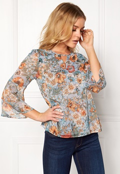 Happy Holly Janelle blouse Blue / Patterned Bubbleroom.fi