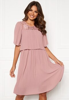 Happy Holly Jannica midi dress Dusty pink Bubbleroom.fi