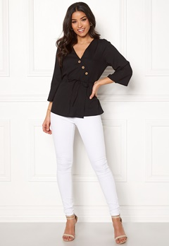 Happy Holly Jasmine blouse Black Bubbleroom.fi