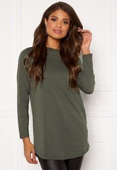 Happy Holly Jassy tunic Khaki green Bubbleroom.fi