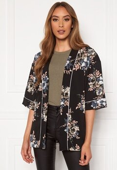 Happy Holly Jelena kimono blouse Black / Patterned Bubbleroom.fi