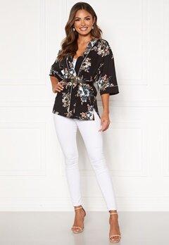 Happy Holly Jelena kimono blouse Black / Patterned Bubbleroom.fi