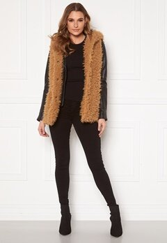 Happy Holly Jenny fur vest Camel Bubbleroom.fi
