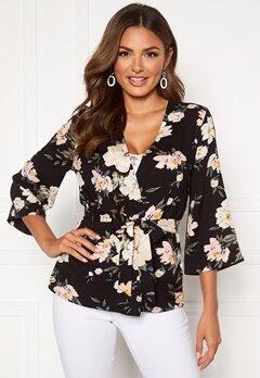 Happy Holly Jessie kimono jacket Black / Patterned Bubbleroom.fi