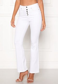 Happy Holly Josie bootcut jeans White Bubbleroom.fi