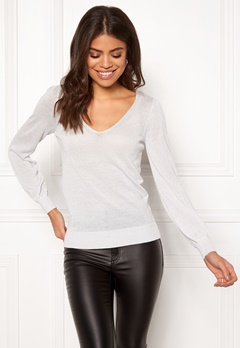 Happy Holly Joslyn lurex sweater Silver grey Bubbleroom.fi
