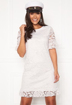 Happy Holly Julianne flounce lace dress White Bubbleroom.fi