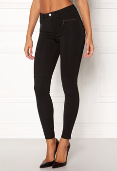 Happy Holly Justina tricot pants Black Bubbleroom.fi