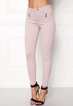 Happy Holly Justina tricot pants Dusty pink Bubbleroom.fi