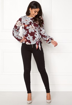 Happy Holly Kacy blouse Wine-red / Patterned Bubbleroom.fi