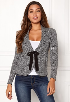 Happy Holly Kara cardigan Black / Offwhite Bubbleroom.fi