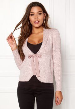 Happy Holly Kara cardigan Dusty pink / Offwhite Bubbleroom.fi