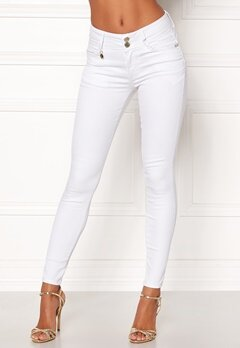 Happy Holly Karen jeans White Bubbleroom.fi