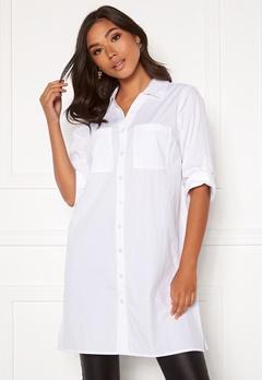 Happy Holly Katrina long shirt White Bubbleroom.fi