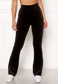 Happy Holly Kaylee velour flared leggings Black Bubbleroom.fi
