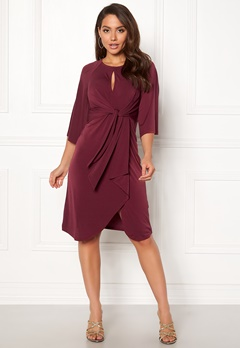 Happy Holly Kim dress Wine-red Bubbleroom.fi