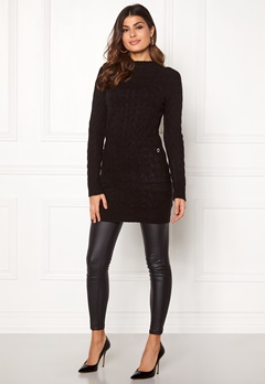 Happy Holly Kira cable sweater dress Black Bubbleroom.fi