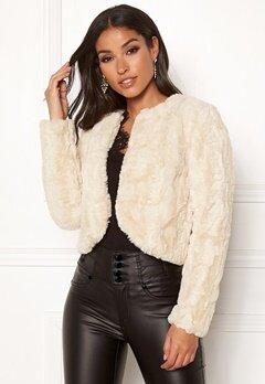 Happy Holly Kirsten fur jacket Light beige Bubbleroom.fi