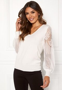 Happy Holly Laura sweater Offwhite Bubbleroom.fi