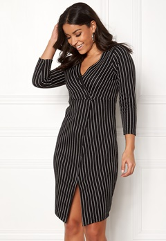 Happy Holly Lauren dress Black / Striped Bubbleroom.fi