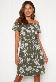 Happy Holly Layla dress Khaki green / Patterned Bubbleroom.fi