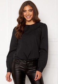 Happy Holly Leona blouse Black Bubbleroom.fi