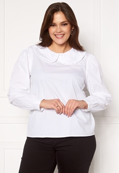 Happy Holly Leona blouse White Bubbleroom.fi