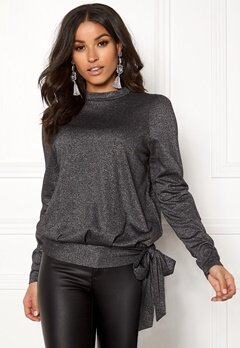 Happy Holly Lily lurex top Black / Silver Bubbleroom.fi