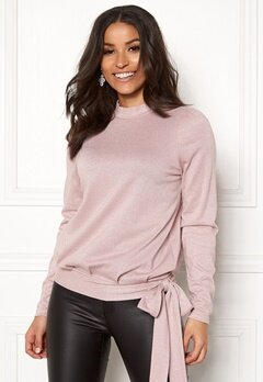 Happy Holly Lily lurex top Pink / Silver Bubbleroom.fi