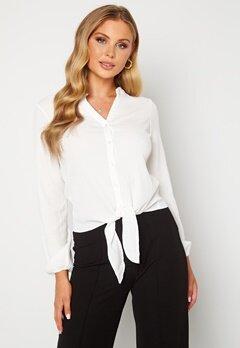 Happy Holly Lina knot blouse Offwhite Bubbleroom.fi