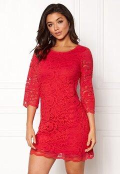 Happy Holly Lina lace dress Red Bubbleroom.fi