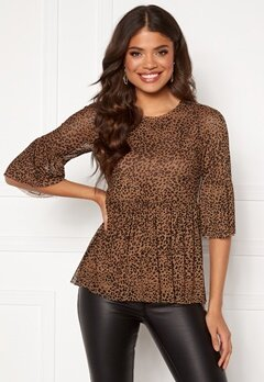 Happy Holly Lina mesh top Leopard Bubbleroom.fi