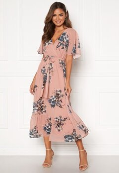 Happy Holly Linnea maxi dress Dusty pink / Patterned Bubbleroom.fi