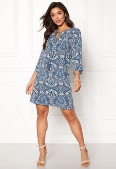 Happy Holly Livia dress Blue / Patterned Bubbleroom.fi