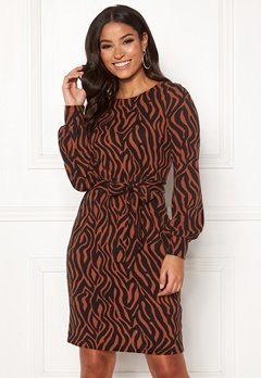 Happy Holly Liz cozy dress Black / Cinnamon Bubbleroom.fi