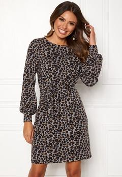 Happy Holly Liz cozy dress Leopard Bubbleroom.fi