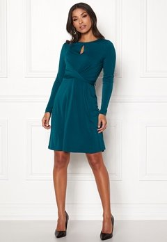 Happy Holly Lucy dress Petrol-blue Bubbleroom.fi
