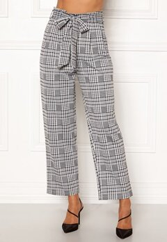Happy Holly Luna paperbag wide pants Checked Bubbleroom.fi