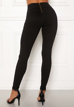 Happy Holly Lyra zip pants Black Bubbleroom.fi