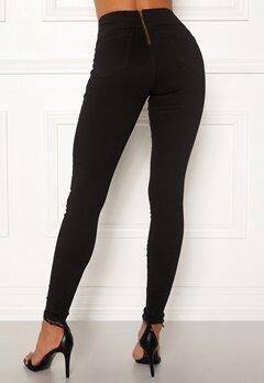 Happy Holly Lyra zip pants Black Bubbleroom.fi