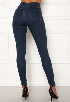 Happy Holly Lyra zip pants Medium denim Bubbleroom.fi