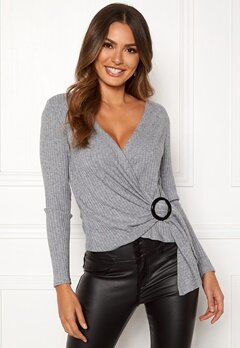 Happy Holly Maci top Grey melange Bubbleroom.fi