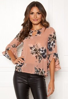 Happy Holly Madelyn Blouse Pink / Patterned Bubbleroom.fi
