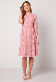 Happy Holly Madison lace dress Dusty pink Bubbleroom.fi