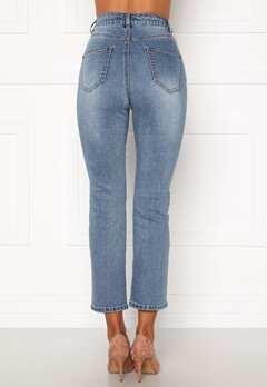 Happy Holly Maja high waist jeans Light denim Bubbleroom.fi