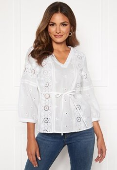 Happy Holly Majken blouse White Bubbleroom.fi