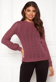 Happy Holly Malinda sweater Dark heather pink Bubbleroom.fi